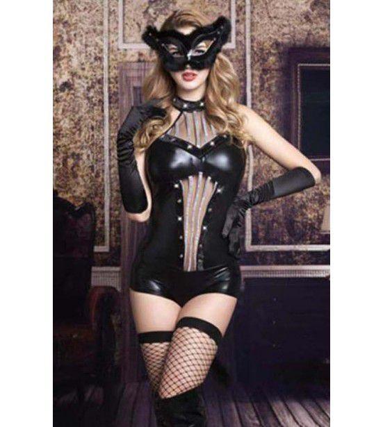 Латекстный костюм с маской артикул 10039