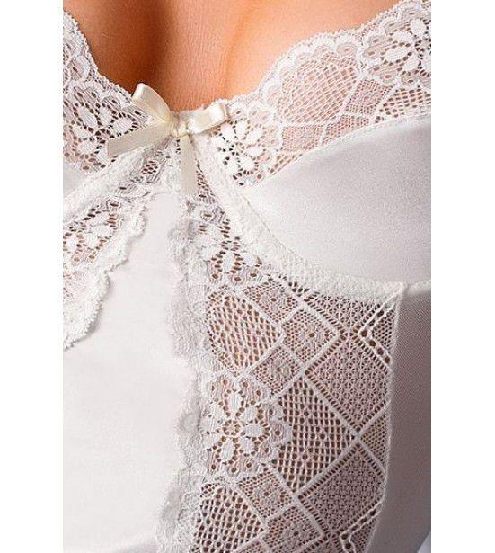 Корсаж платье белое полупрозрачное, артикул 13130