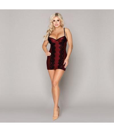 Пеньюар-платье бордового цвета, fартикул 13171