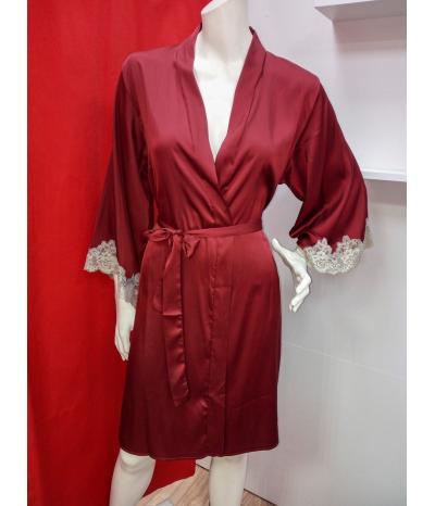 Красный пеньюар-халат, артикул 13218