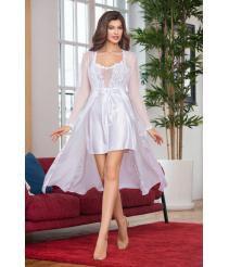 Женский халат белый, артикул 13121