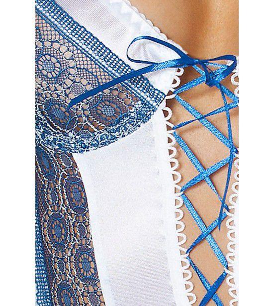 Коротенькая сорочка Eleni со шнуровкой по всей длине