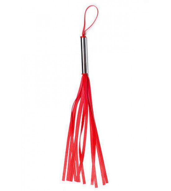 Красная латексная мини-плеть - 35 см.