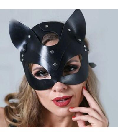 Кожаная маска кошки
