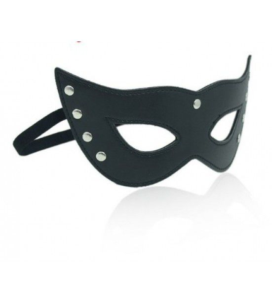 Кожаная карнавальная маска