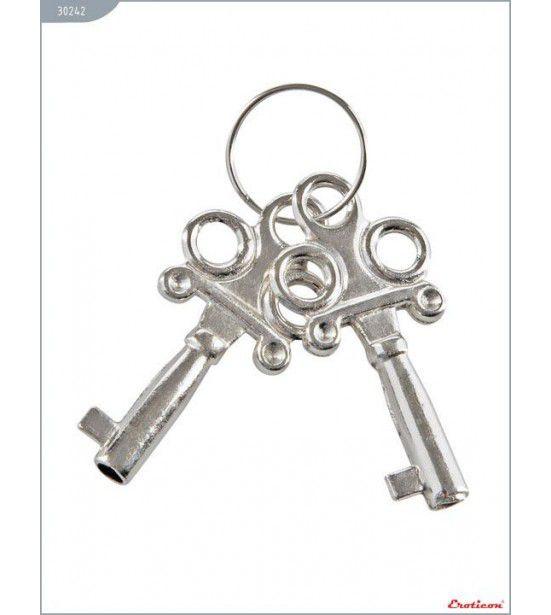 Металлические наручники с ключами