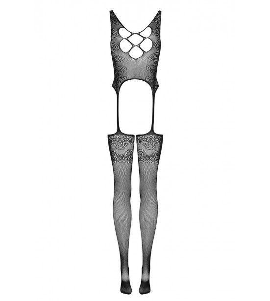 Оригинальный кэтсьюит с имитацией шнуровки на спинке