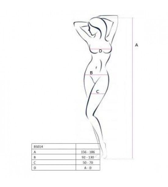 Оригинальный костюм-сетка с открытой грудью